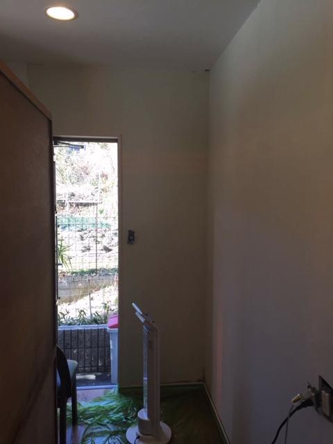壁紙剥がし。除菌乾燥!